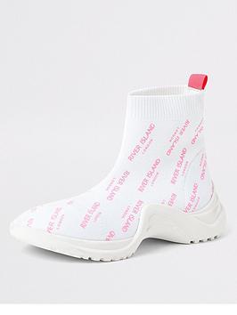 river-island-girls-ri-sock-trainers-white