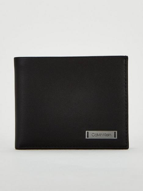 calvin-klein-smooth-leather-plaque-billfold-wallet-black