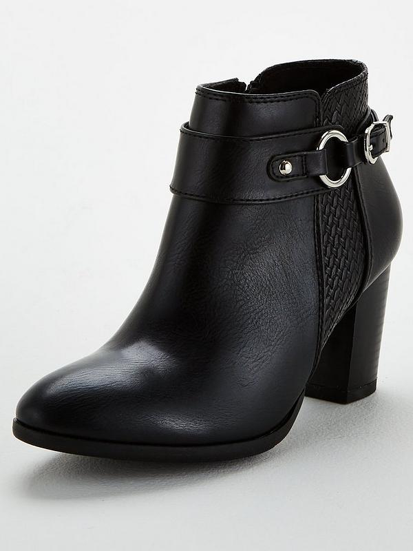 best supplier shoes for cheap outlet boutique Weave And Harness Strap Ankle Boots - Black