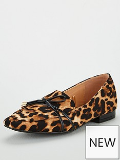 wallis-bow-flat-point-shoes-brown
