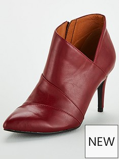 wallis-v-side-ankle-boots-red