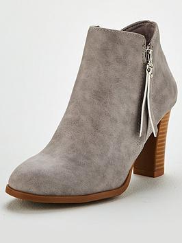 wallis-side-zip-block-heel-ankle-boot