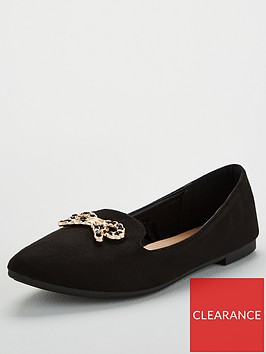 wallis-bow-trim-pointed-flat-black