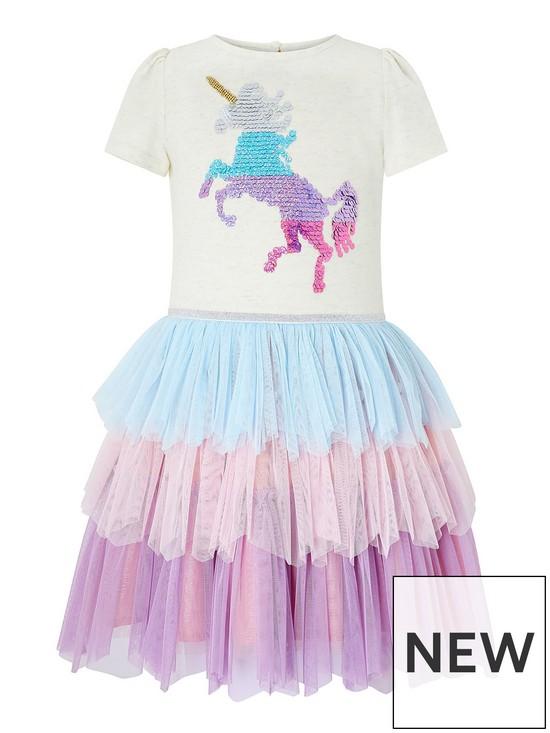 e3095e564ee3 Monsoon Disco Ola Unicorn Dress   very.co.uk