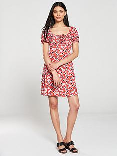 v-by-very-ruched-bust-jersey-tea-dress-red