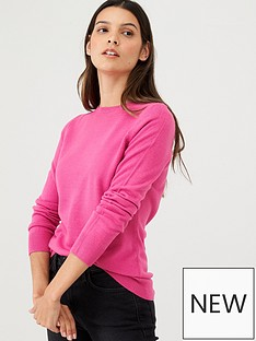 v-by-very-supersoft-crew-neck-jumper-pink