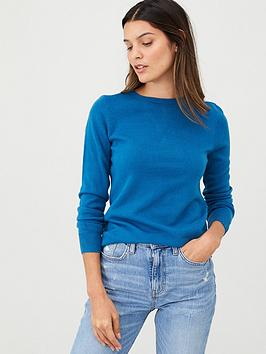 v-by-very-supersoft-crew-neck-jumper-teal