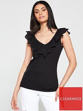 v-by-very-lace-pretty-top-black