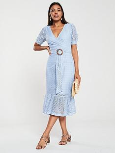 v-by-very-jersey-crochet-belted-midi-dress