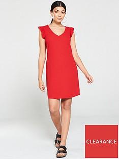 v-by-very-v-neck-frill-jersey-mini-dress