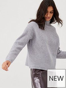 whistles-eden-ribbed-wool-jumper-grey