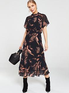 whistles-rose-paisley-leaf-dress-black