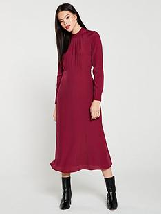 whistles-ruby-high-neck-midi-dress-burgundy