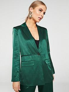 whistles-satin-single-breasted-blazer-dark-green