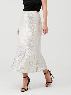 whistles-sequin-skirt-silver