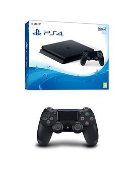 playstation-4-ps4-black-500gb-console-with-optional-extras