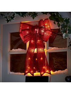 noma-50cm-red-fabric-bow-door-hanger