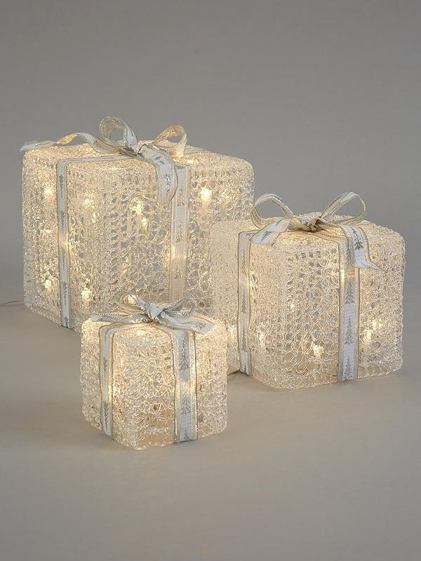 Noma Set Of 3 Indoor Outdoor Parcel Christmas Lights Very Co Uk