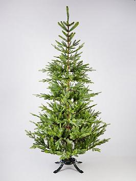 7ft-nordman-memory-wire-real-look-fir-scented-christmas-tree-with-free-storage-bag