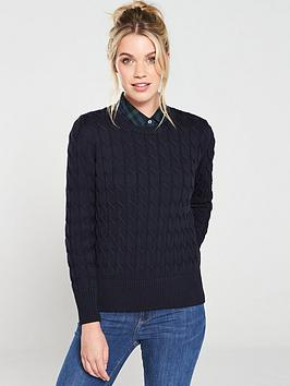 barbour-lewes-knitted-jumper--nbsp-navy