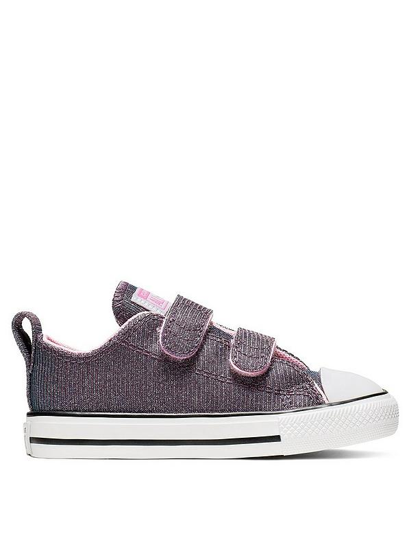 Chuck Taylor All Star 2v Space Star Trainers PinkSilverWhite