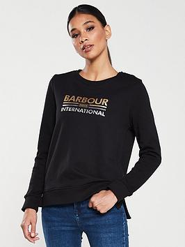 barbour-international-dipped-hem-sweater-black