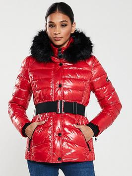 barbour-international-premium-marleigh-quilted-coat-redblack
