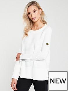 a23d80c0f003 Barbour International Garrow Knitted Jumper - Off White