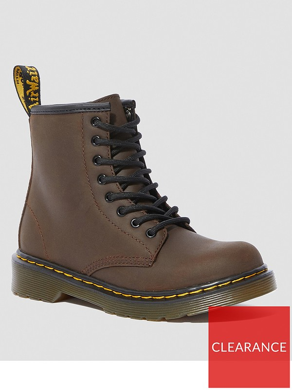 """LACE UP BROWN 4/""""SOLE TAN BUILD A BEAR WORKSHOP FAUX LEATHER WORK BOOTS"""