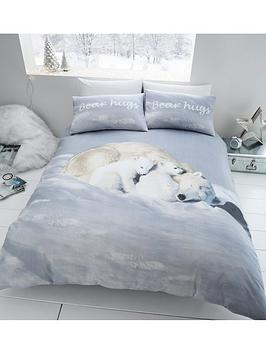 catherine-lansfield-brushed-cotton-polar-bears-christmas-duvet-cover-set