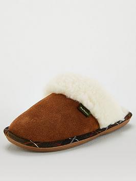 barbour-lydia-mule-tartan-trim-slipper-camel