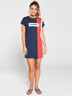 tommy-hilfiger-beach-t-shirt-dress-navy-blazer