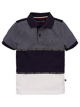 tommy-hilfiger-boys-colour-block-short-sleeve-polo-shirt-navy