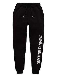 calvin-klein-jeans-boys-logo-fleece-sweatpants-black