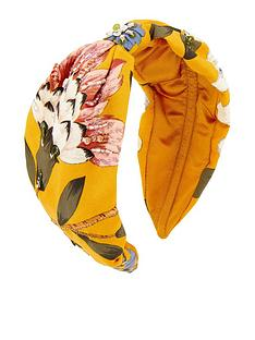 accessorize-wide-knot-floral-embellish-alice-headband-yellownbsp