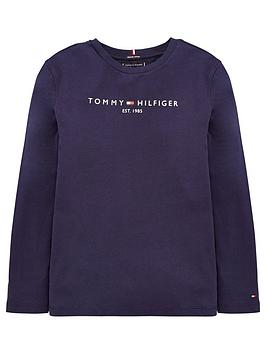 tommy-hilfiger-boys-essential-logo-long-sleeve-t-shirt-navy