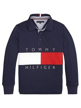 tommy-hilfiger-boys-colour-block-long-sleeve-polo-shirt-navy