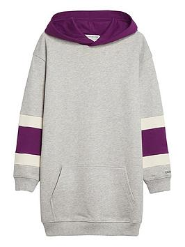 calvin-klein-jeans-girls-varsity-hooded-dress-grey-marl