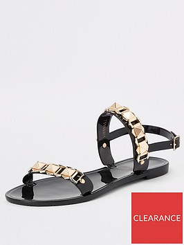 river-island-river-island-studded-jelly-sandal-black