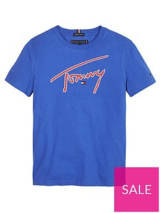 tommy-hilfiger-boys-signature-logo-short-sleeve-t-shirt-blue