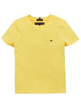 tommy-hilfiger-boys-essential-flag-short-sleeve-t-shirt-yellow