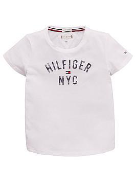 tommy-hilfiger-girls-nyc-logo-short-sleeve-t-shirt-white