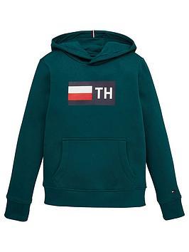 tommy-hilfiger-boys-flag-hoodie-teal