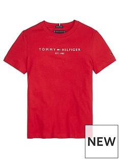tommy-hilfiger-boys-essential-logo-short-sleeve-t-shirt-red