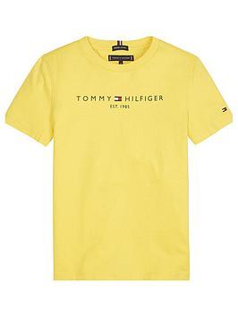 tommy-hilfiger-boys-essential-logo-short-sleeve-t-shirt-yellow