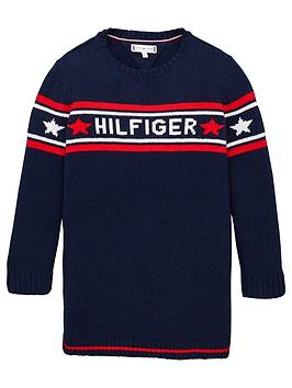 tommy-hilfiger-girls-logo-knitted-dress-navy