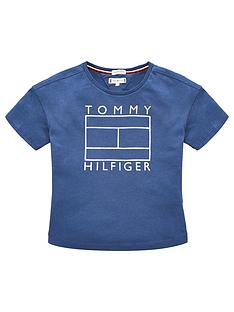 tommy-hilfiger-girls-foil-logo-short-sleeve-t-shirt-blue