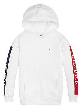 tommy-hilfiger-girls-colour-block-logo-hoodie-white