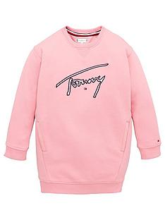 tommy-hilfiger-girls-signature-logo-sweat-dress-light-pink