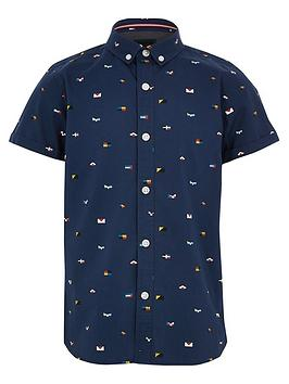 river-island-boys-printed-short-sleeve-shirt-navy